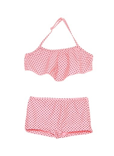 Bellisa Bellisa Puantiyeli Pembe  Bikini Takım Renkli